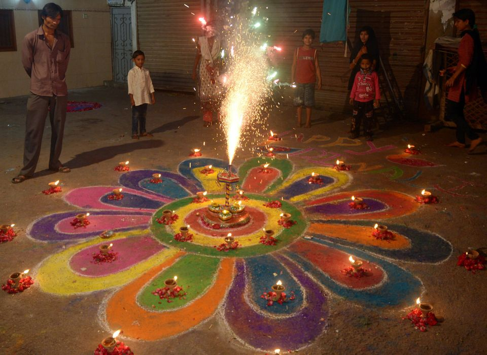 Hindus, of which there are at least 2 million in Pakistan, celebrate Diwali with fireworks in Karachi...