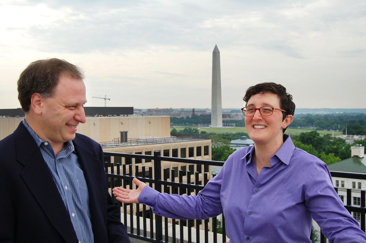 """<div class=""""feature-caption""""><em>Aaron Snow and Hillary Hartley co-founded 18F to help the federal government build technology. (Photo: Gerry Smith/Huffington Post)</em></div>"""