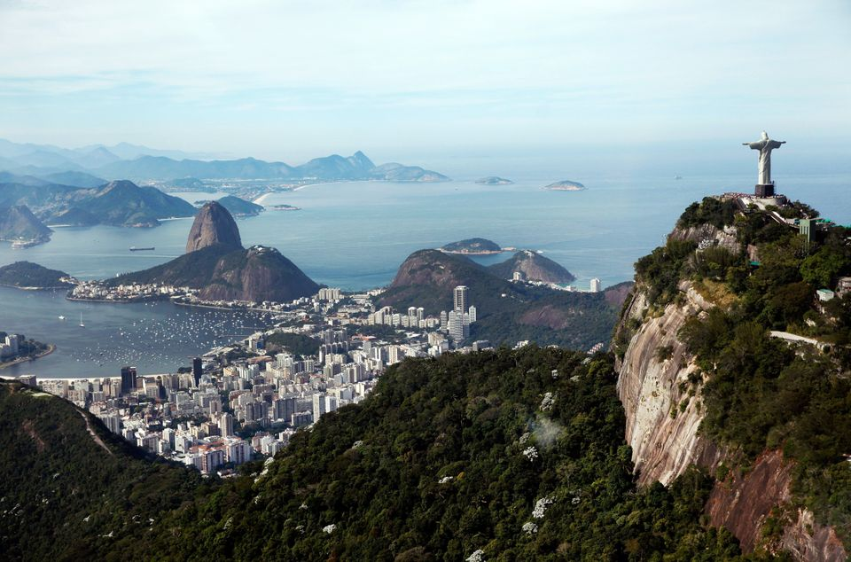 A view of Rio de Janeiro from the city's famous Christ the Redeemer statue. (Jamie Squire/Getty