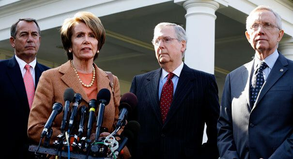 <em>From left to right, the candidates for the Speaker of the House, John Boehner and Nancy Pelosi, and the candidates for Se
