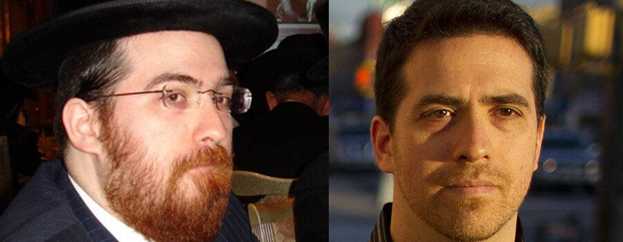 Left, Shulem Deen in New Square, 2006; right, Shulem Deen after leaving Hasidism (photo by Pearl Gabel)
