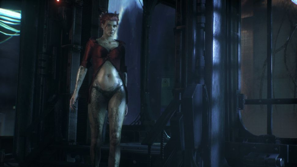 """Poison Ivy appears in """"Arkham Knight"""" with a barely-there shirt and a mossy crotch."""
