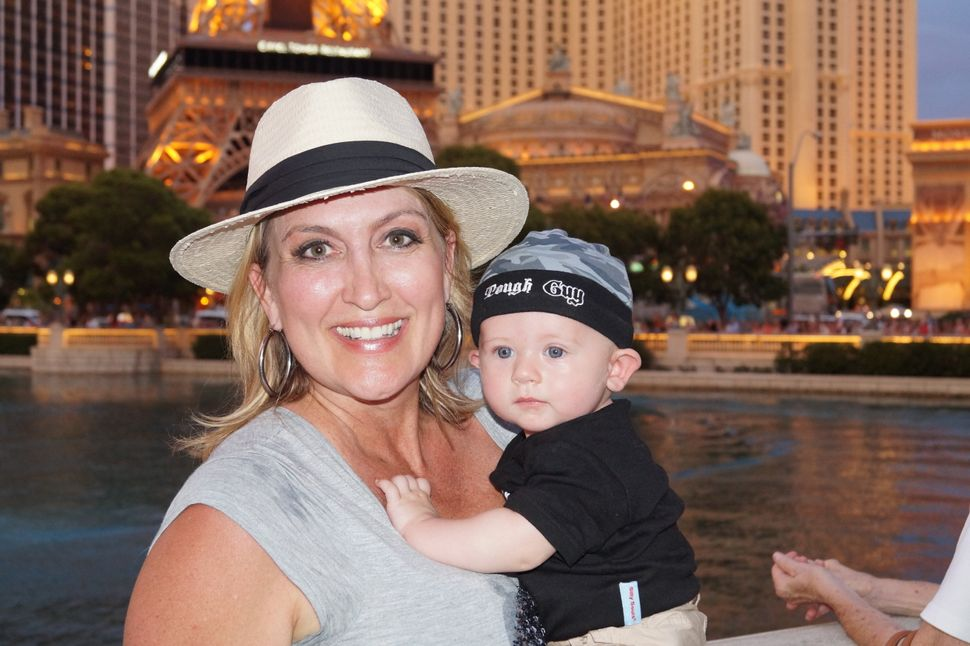 Wendy and Brady on a family trip to Las Vegas in June 2015.