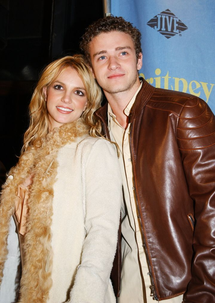 Britney and Justin at the height of their relationship in 2001