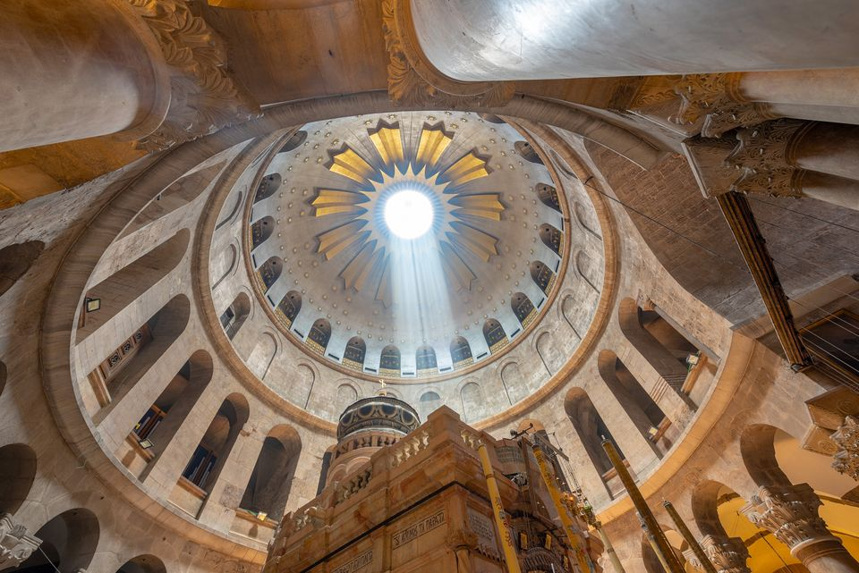 The roof of the Church of the Holy Sepulchre, Jerusalem,