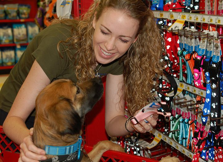 Black buying supplies for a rescue dog who is about to meet her veteran match.