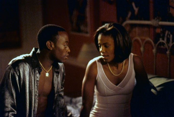Omar Epps as Quincy and Sanaa Lathan as Monica.