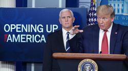 Trump presenta un plan de tres fases para reabrir