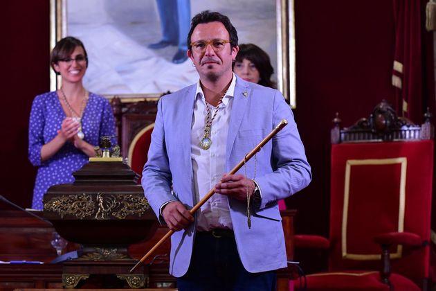 José María González 'Kichi', en su toma de posesión como alcalde de Cádiz...