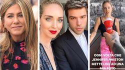 Jennifer Aniston segue Fedez su Instagram e mette like. E la Ferragni si