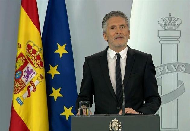 Fernando Grande-Marlaska, en rueda de prensa el 14 de abril de