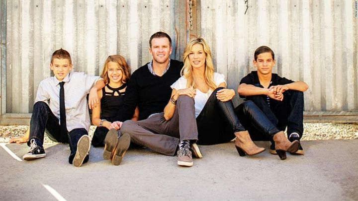 The Ancich's family photo that was used in the Facebook ad.