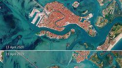 Las fotos de Venecia desde el espacio que muestran cómo ha cambiado por el