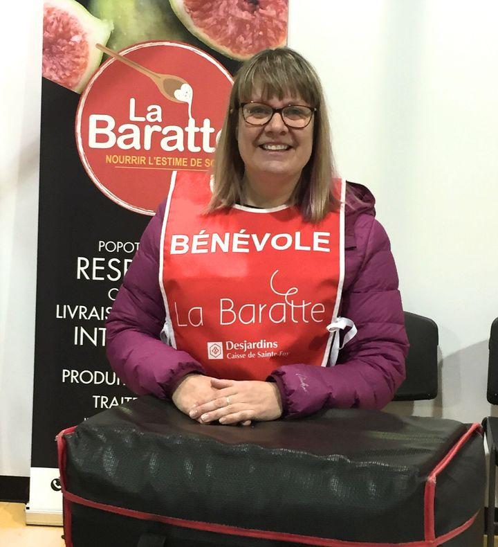 Ann Chrétien, bénévole pour l'organisme La Baratte à Québec