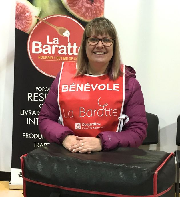 Ann Chrétien, bénévole pour l'organisme La Baratte à