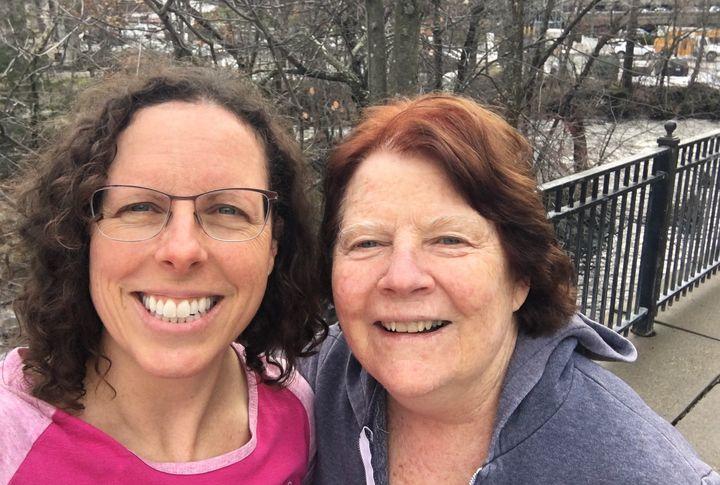 The author and her mom pre-quarantine.