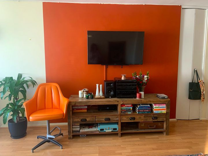 One of our reporters painted a wall in her studio, and the task brought more benefits than just a home redesign.