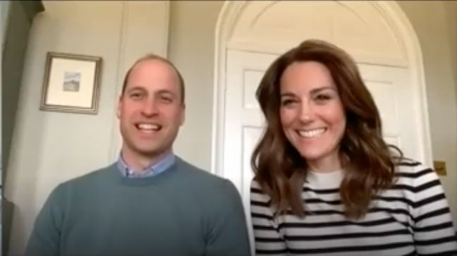 The Duke and Duchess of Cambridge during an interview with the BBC on Friday.