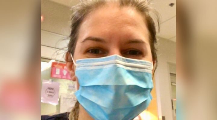 Dr. Marie-Renée Lajoie is pictured in the ER at the Jewish General Hospital in Montreal.