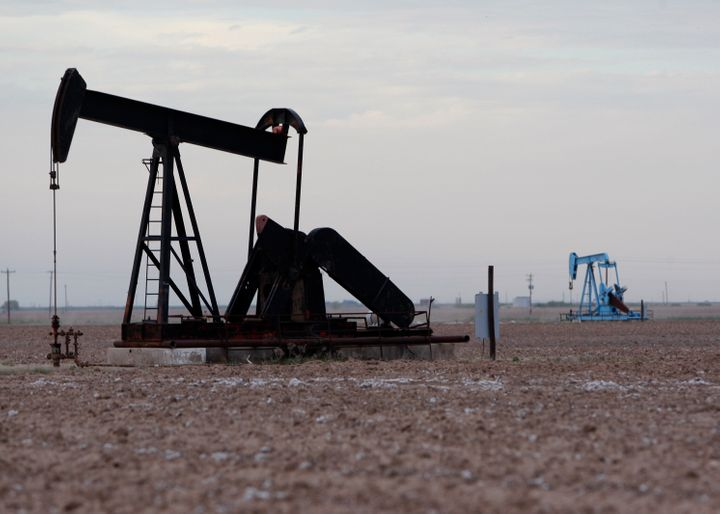 Oil rigs in Midland, Texas.