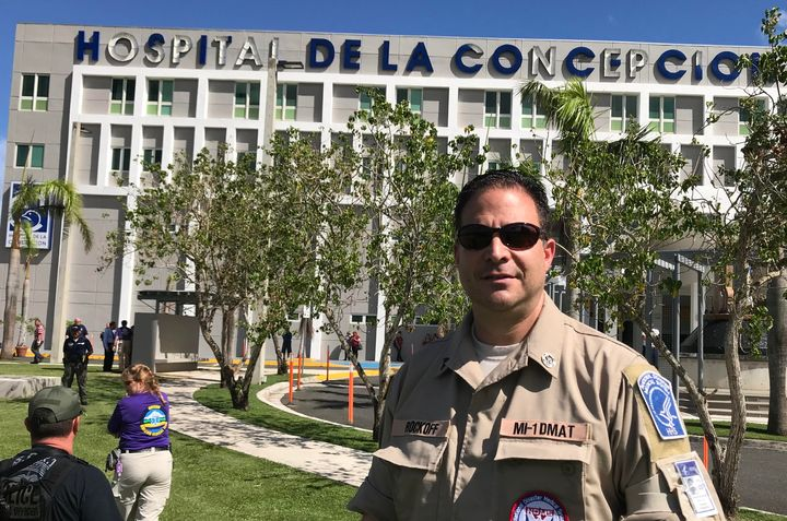 Steven Rockoff, emergency room physician, at the Puerto Rico hospital where he and other members of Michigan's Medical Disast