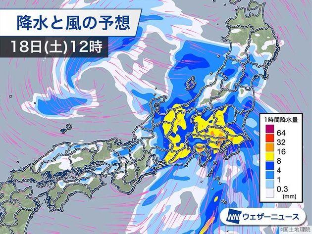 降水と風の予想