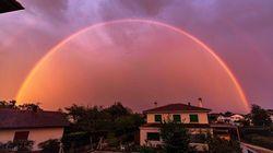Cet arc-en-ciel a mis du baume au coeur des confinés de