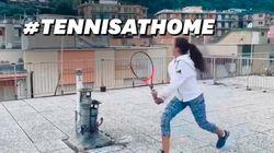 Comment jouer au tennis malgré le confinement? Ces deux jeunes filles ont la