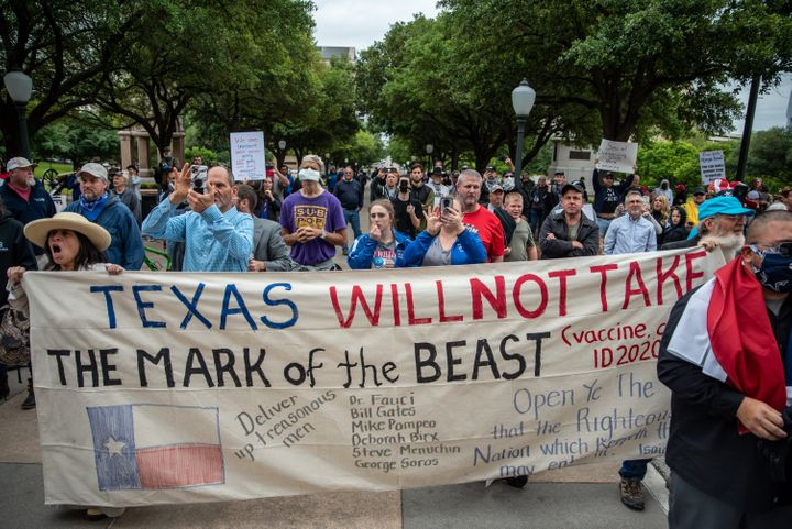 Protesters gathered at the Texas State Capital building on Saturday.