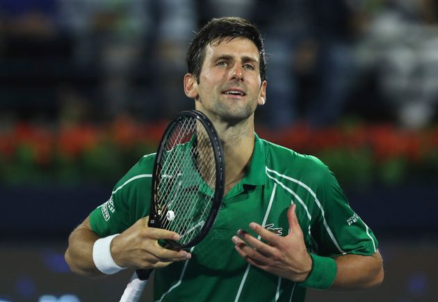 Novak Djokovic (ici à Dubai en février 2020) veut aider, avec l'aide de Federer et Nadal,...