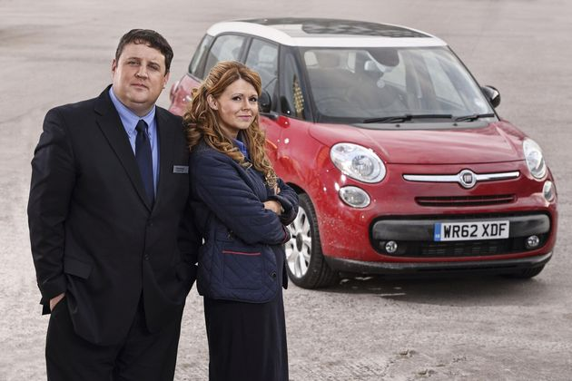 Peter Kay and Sian Gibson in Car