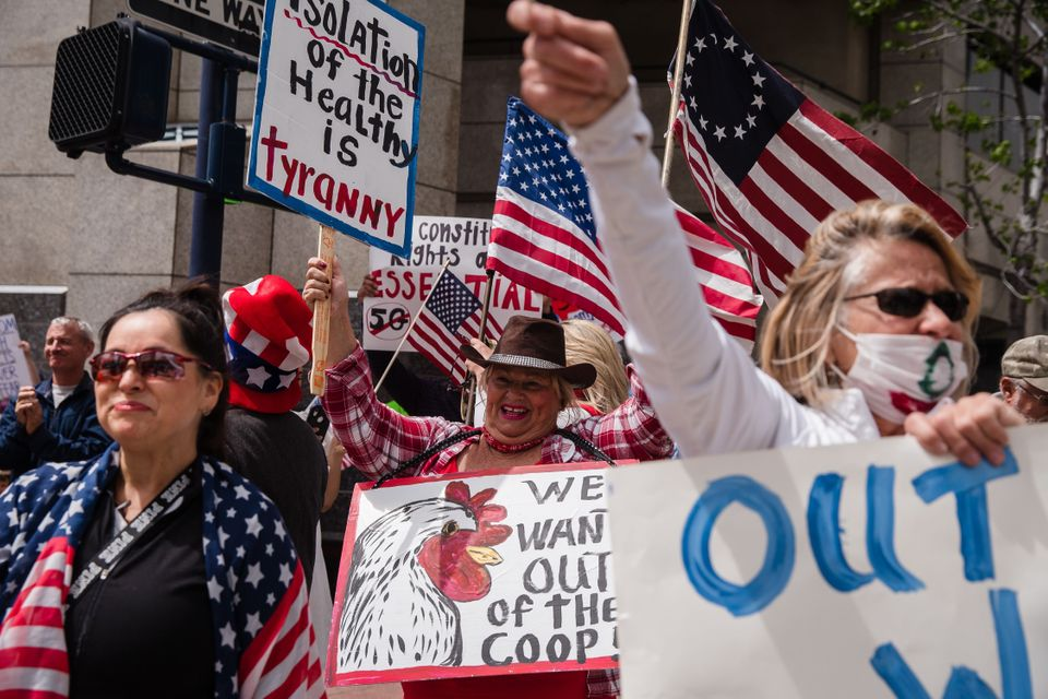 Hundreds protested in cities across America on