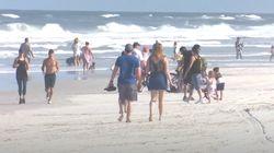 재개장한 플로리다 해변에 엄청난 인파가