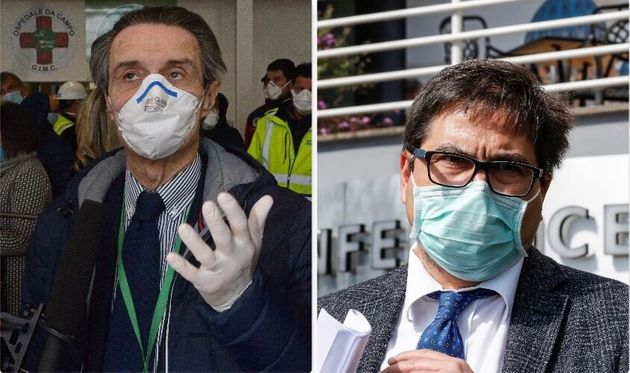 Attilio Fontana, governatore Lombardia - Alessio D'Amato, assessore Sanità
