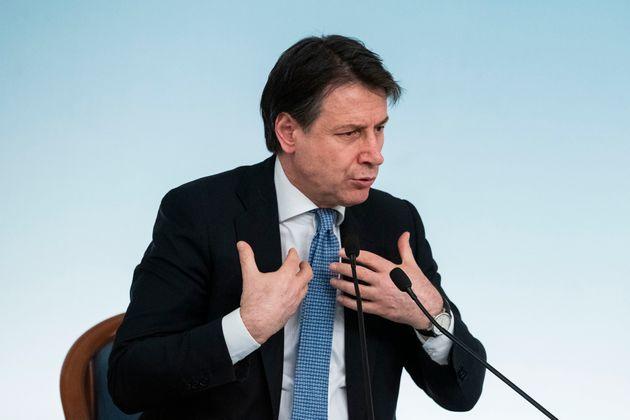 05/03/2020 Roma,Conferenza stampa al termine del Consiglio dei Ministri nella foto Giuseppe