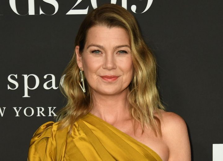 Ellen Pompeo arrives at the InStyle Awards in October 2019.