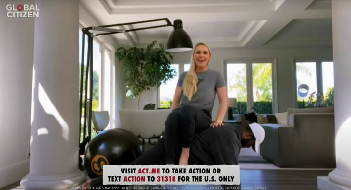 P.K. Subban and Lindsey Vonn show off their fitness prowess.