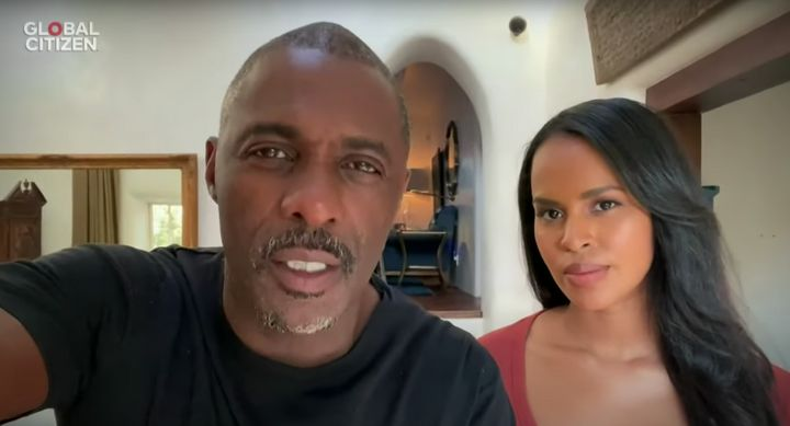Idris Elba and his Canadian wife Sabrina Dhowre, who both recovered from the coronavirus.