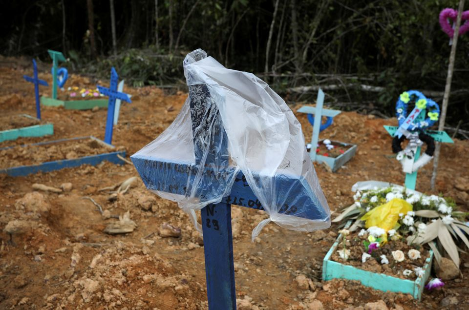 A view of the Parque Taruma cemetery during the COVID-19 outbreak, in Manaus, Brazil, April