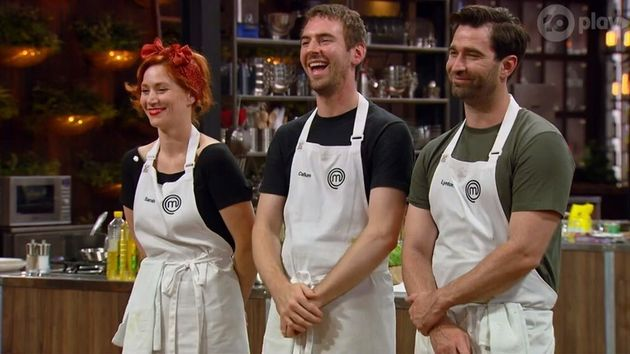 MasterChef Australia: Back To Win contestants Sarah Clare, Callum Hann and Lynton