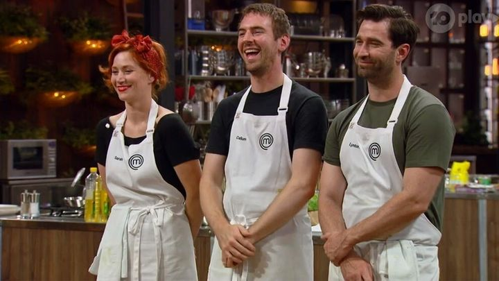 MasterChef Australia: Back To Win contestants Sarah Clare, Callum Hann and Lynton Tapp