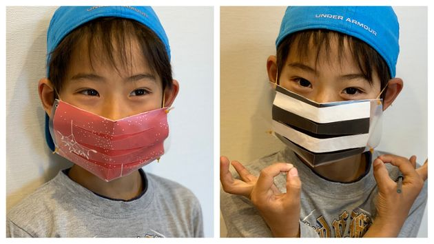 東京都医師会が考案した簡易マスクを工作してみました