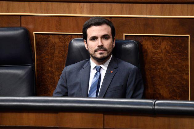 El ministro Alberto Garzón, en el Congreso el 3 de febrero de 2020. (Carlos Alvarez/Getty