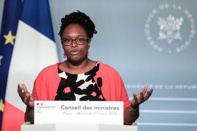 Sibeth Ndiaye, ici s'exprimant lors d'une conférence de presse à l'Élysée...