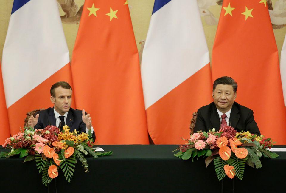 Le président Macron et son homologue chinois Xi Jinping en novembre