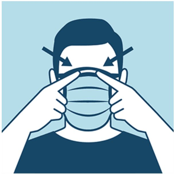 This CDC infographic demonstrates how your mask should be covering the bridge of your nose.