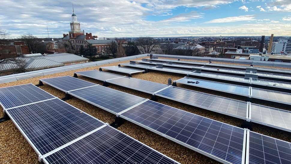 Volt Energy recently installed solar panels for Howard University in Washington, D.C.