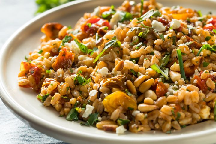 Farro makes a healthy alternative when you can't find rice.