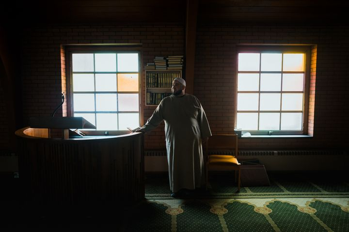 Imam Osamah Salhia, at the Islamic Center of Passaic County in Clifton, New Jersey, has been live-streaming services to thousands of viewers during the COVID-19 pandemic.