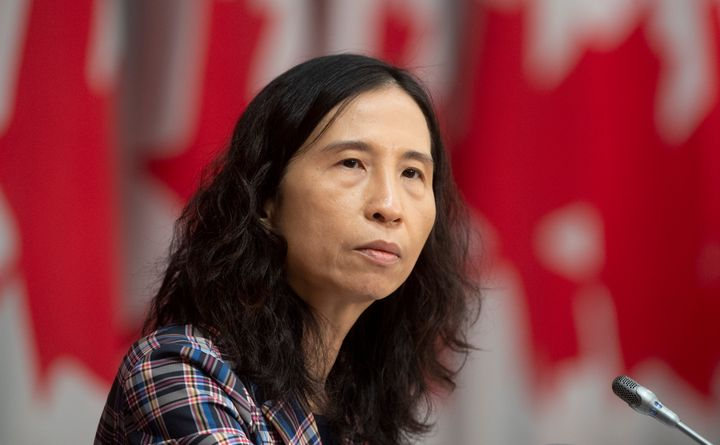 Chief Public Health Officer Theresa Tam is seen during a news conference in Ottawa on April 20, 2020.